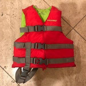 63ee7f930 ... Girls Dress Shoes - size 8 Child Swim Life Vest Jacket- Child Sz 30-50  lbs ...